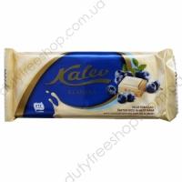 Белый шоколад с черникой и воздушным рисом